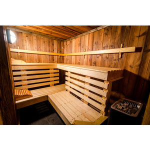Courchevel chalet private sauna